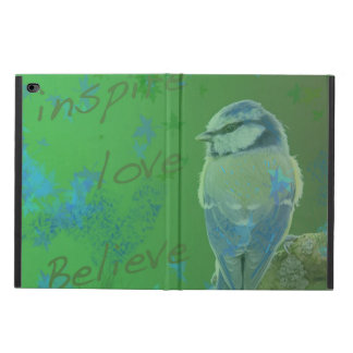 Inspirez l'amour croient le coque ipad d'oiseau