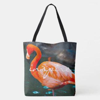 Inspirez le sac fourre-tout rose orange à photo de