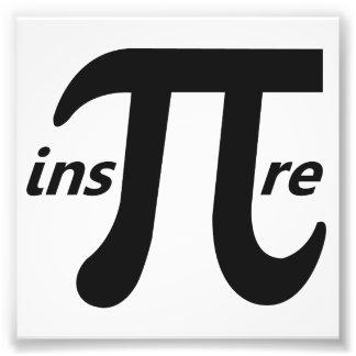 Inspirez le symbole inspiré de pi photographe