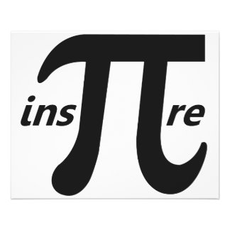 Inspirez le symbole inspiré de pi prospectus 11,4 cm x 14,2 cm