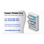 Installateur PERSONNALISABLE de fenêtre AVANT Carte De Visite Standard
