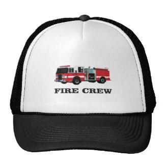 installation de pompiers casquettes