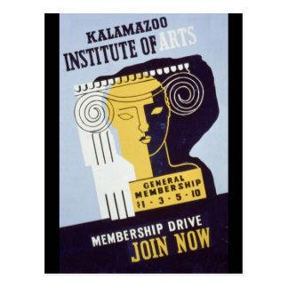 Institut de Kalamazoo des arts - affiche de WPA - Carte Postale