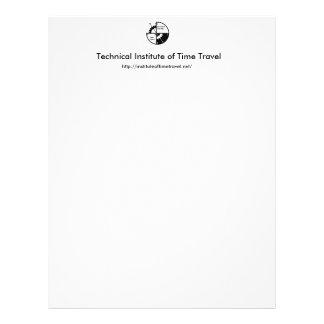 Institut technique de papeterie de voyage de temps prospectus 21,6 cm x 24,94 cm