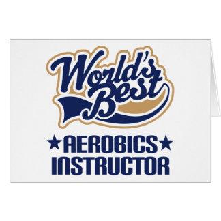 Instructeur d'aérobic des mondes de cadeau le cartes