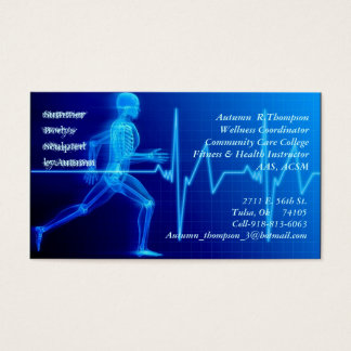 Instructeur de forme physique cartes de visite