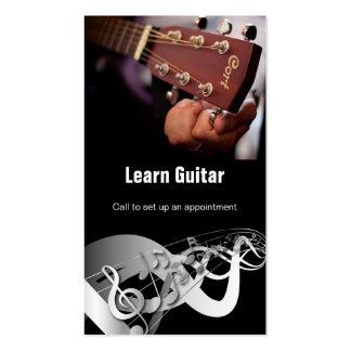 Instructeur de guitare carte de visite standard