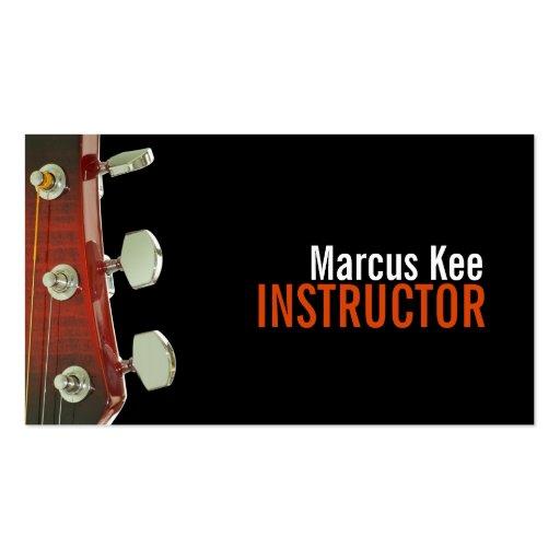 Instructeur de guitare, musique, instruments cartes de visite professionnelles