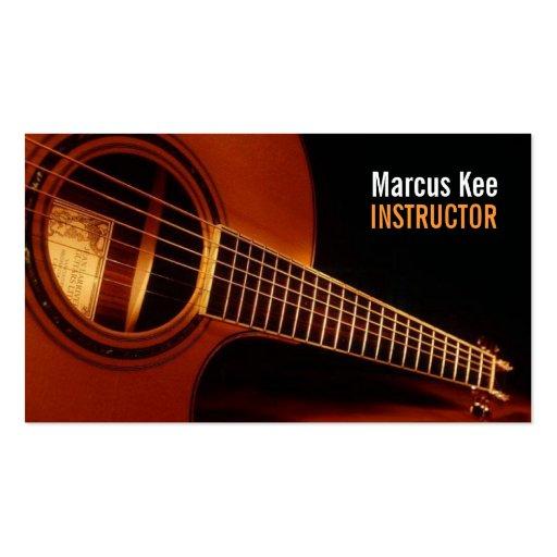 Instructeur de guitare, musique, instruments cartes de visite personnelles