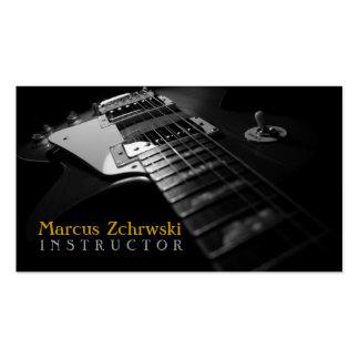 Instructeur de guitare, musique, instruments carte de visite standard
