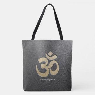 Instructeur de médiation de yoga de symbole d'OM Tote Bag