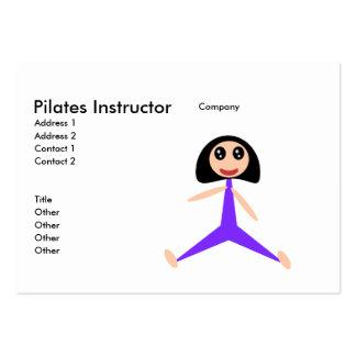 Instructeur de Pilates Cartes De Visite Professionnelles