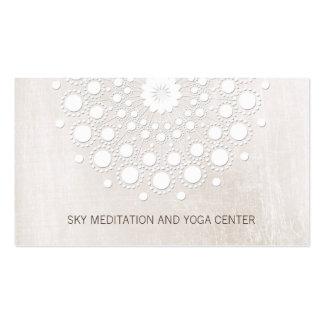 Instructeur de yoga et de méditation de mandala de carte de visite standard
