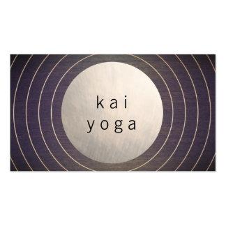 Instructeur moderne frais de yoga de méditation de carte de visite standard
