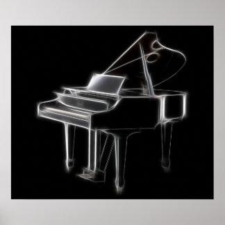 Instrument classique musical de piano à queue posters