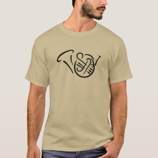Instrument de cor de harmonie t-shirt