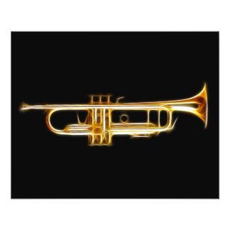 Instrument de musique de vent de klaxon en laiton  prospectus 11,4 cm x 14,2 cm