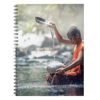 Instruments de lavage de moine bouddhiste carnets à spirale