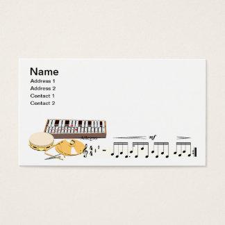 instruments de musique cartes de visite