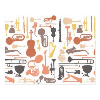 Instruments de musique cartes postales