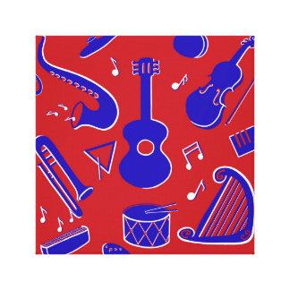 Instruments de musique toile