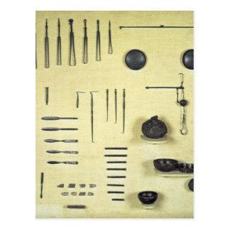 Instruments du cas d'un oculiste, de Reims Carte Postale