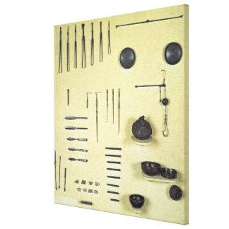 Instruments du cas d'un oculiste, de Reims Toiles