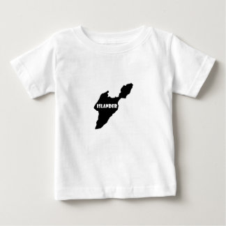 Insulaire mis en île Ohio le lac Érié de baie T-shirt Pour Bébé