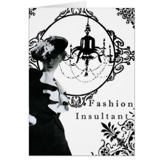 Insultant-carte pour notes vintage de mode