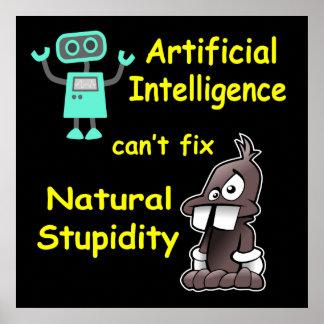 Intelligence artificielle - affiche naturelle de