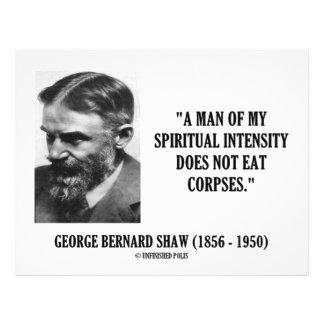 Intensité de George B Shaw Spiritual ne pas mange Prospectus Avec Motif
