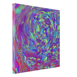 Interférence de couleur - copie enveloppée de toil toile tendue sur châssis