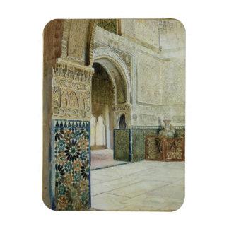 Intérieur d'Alhambra, Grenade (la semaine) Magnets Rectangulaire