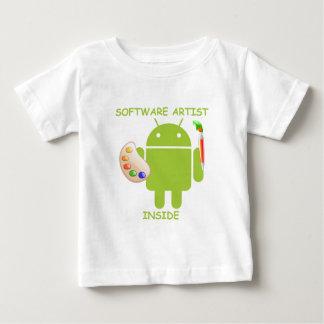 Intérieur d'artiste de logiciel (palette de brosse t-shirts