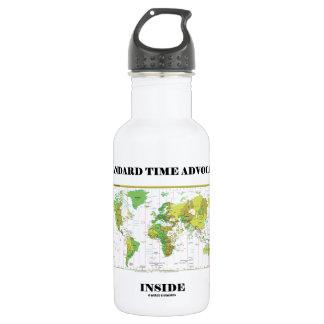 Intérieur d'avocat d'heure d'hiver (fuseaux bouteille d'eau en acier inoxydable