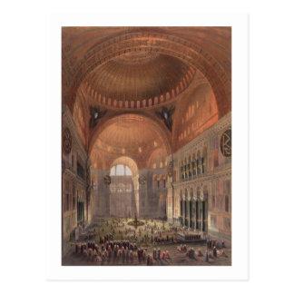 Intérieur de Haghia Sophia, Constantinople, pub. Carte Postale