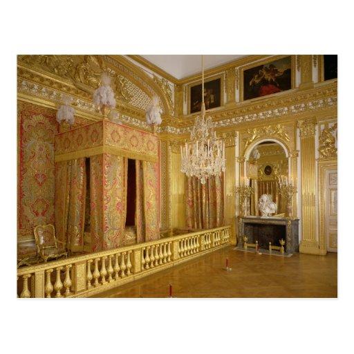 Modele Cuisine Castorama : Intérieur de la chambre à coucher de Louis XIV, Carte Postale