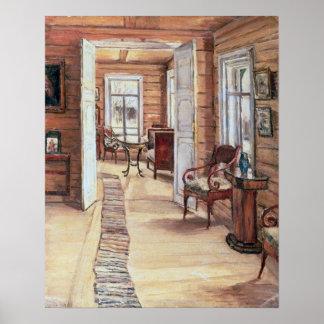 Intérieur de maison de L. Panteleev's dans Murmano Poster