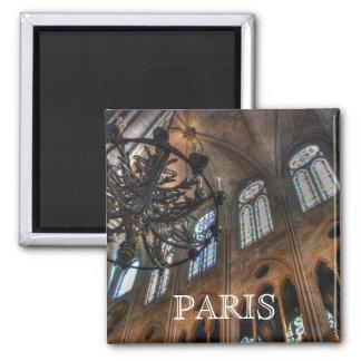 Intérieur de Notre Dame Magnet Carré