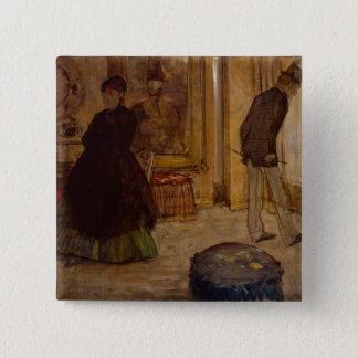 Intérieur d'Edgar Degas | avec deux figures, 1869 Pin's