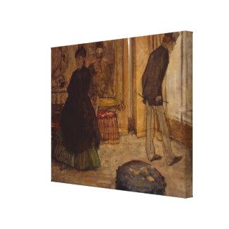 Intérieur d'Edgar Degas | avec deux figures, 1869 Toiles