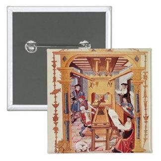 Intérieur des travaux d'impression de XVIème siècl Badges