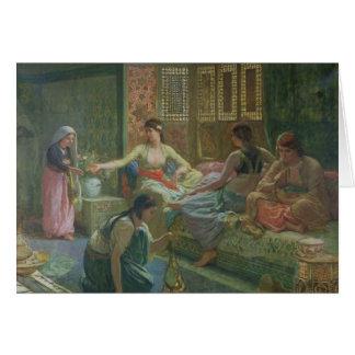 Intérieur d'un harem, c.1865 cartes
