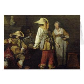 Intérieur d'une auberge, 1636 cartes