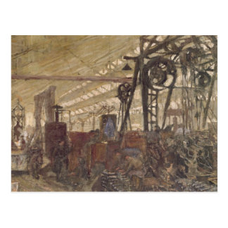 Intérieur d'une usine de munitions, 1916-17 cartes postales
