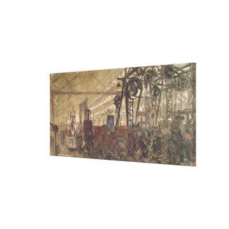 Intérieur d'une usine de munitions, 1916-17 toiles