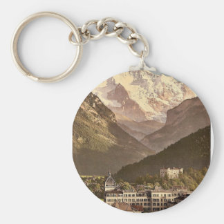 Interlaken, hôtels, Bernese Oberland, Suisse Porte-clé Rond