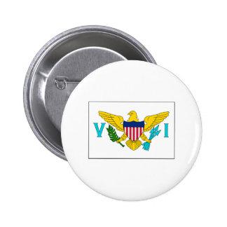 International de DRAPEAU d'île de Vierge Badges Avec Agrafe