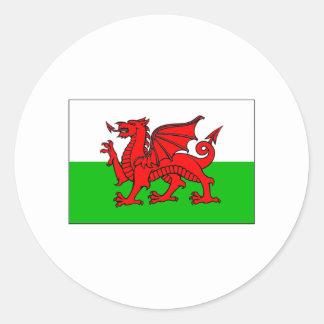 International de DRAPEAU du Pays de Galles Sticker Rond