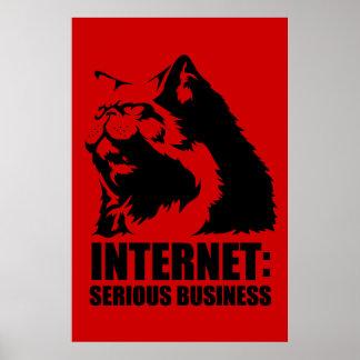 Internet : Affaires sérieuses (T-shirt drôle de lo Poster